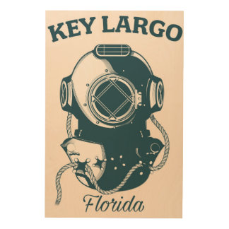 Key Largo Florida Nautical Diving travel poster