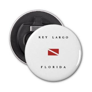 Key Largo Florida Scuba Dive Flag Bottle Opener