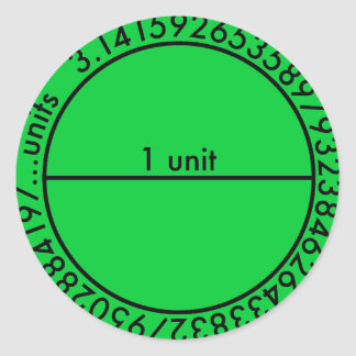 Key Lime Pi Circle 2 Sticker Round Sticker