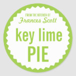 Key Lime Pie Bake Sale Label Template Round Sticker