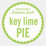 Key Lime Pie Bake Sale Label Template Round Sticker