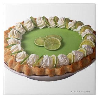 Key lime pie large square tile