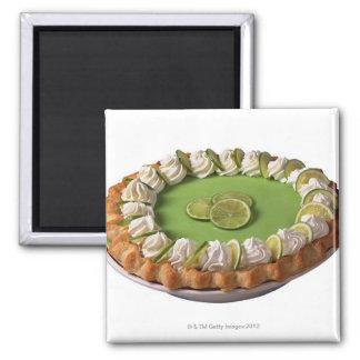 Key lime pie square magnet