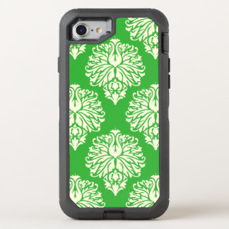 Key Lime Southern Cottage Damask OtterBox Defender iPhone 8/7 Case
