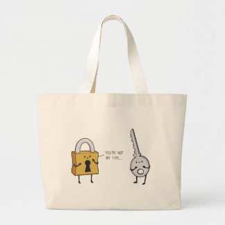 Key & Lock Large Tote Bag