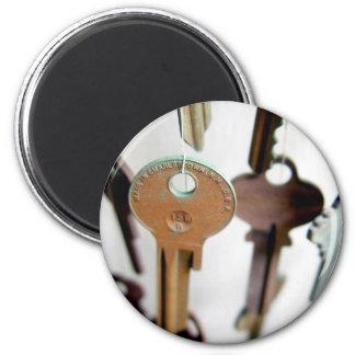 Key Mobile 6 Cm Round Magnet