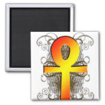 """""""Key of Life (Ankh)"""" in Gold Magnet"""