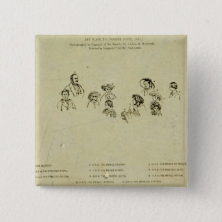 Key Plate to Portrait of the Royal Family at Osbor 15 Cm Square Badge