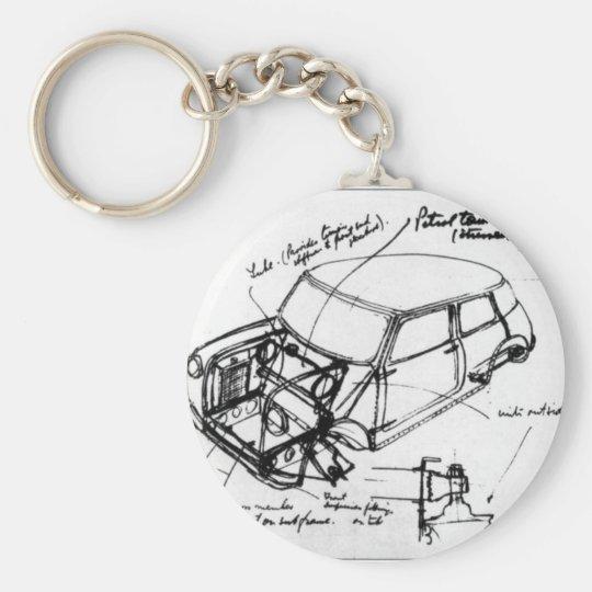 key ring classic mini outline
