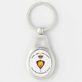 Key-ring CWVNato Silver-Colored Oval Key Ring