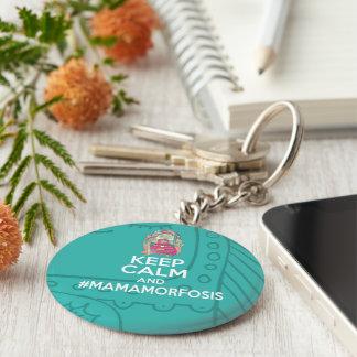 Key ring Keep Calm and Mamamorfosis Basic Round Button Key Ring