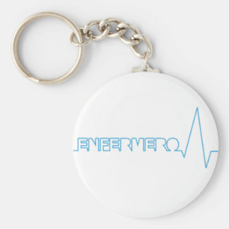 Key ring nurse basic round button key ring