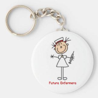 Key ring of future nurse basic round button key ring
