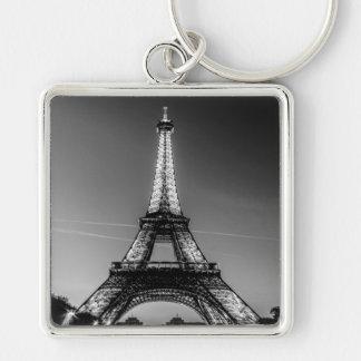 Key-ring Paris-Turn Eiffel #3 Silver-Colored Square Key Ring