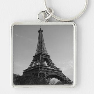 Key-ring Paris-Turn Eiffel #4 Silver-Colored Square Key Ring