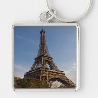 Key-ring Paris-Turn Eiffel #5 Silver-Colored Square Key Ring
