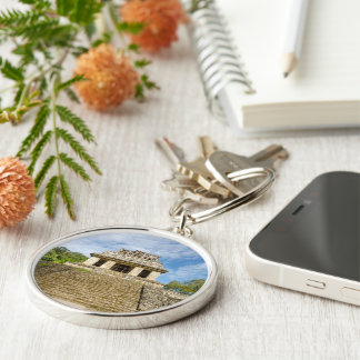 Key ring Redondo Of Quality, Palenque, Mexico Silver-Colored Round Key Ring