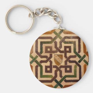 Key ring tile Alhambra - Granada Basic Round Button Key Ring