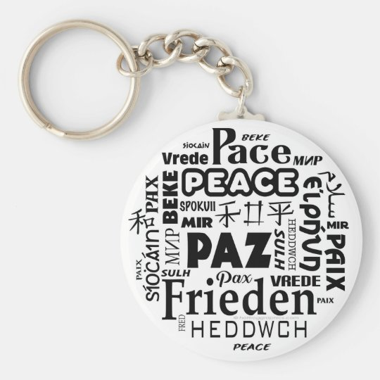 Key Ring with multi language peace design