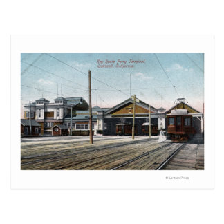 Key Route Ferry Terminal and Railway Postcard