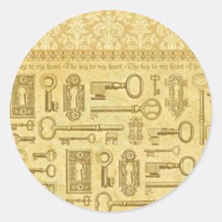 key-stck classic round sticker