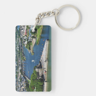 Key supporter German hit a corner in Koblenz Double-Sided Rectangular Acrylic Key Ring