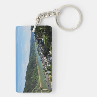 Key supporter Oberwesel in the central Rhine Double-Sided Rectangular Acrylic Key Ring