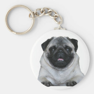 Key supporter pug basic round button key ring