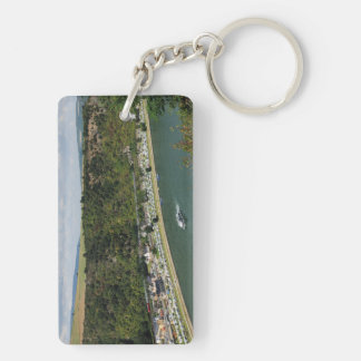 Key supporter to the Loreley in the central Rhine Double-Sided Rectangular Acrylic Key Ring