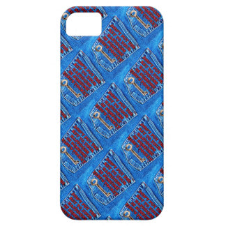 Key to Happiness Pocket Quote Blue Jeans Denim Case For The iPhone 5