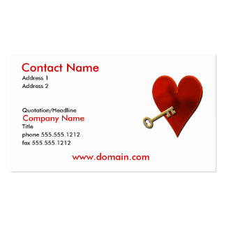 Key to Heart Business Card