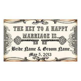 Key to Marriage Save the Date Advice Business Card