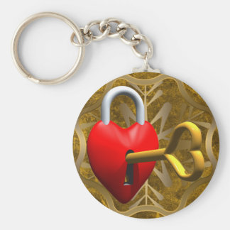 Key To My Heart Basic Round Button Key Ring