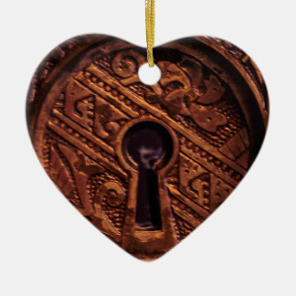 Key to my Heart Ceramic Heart Decoration