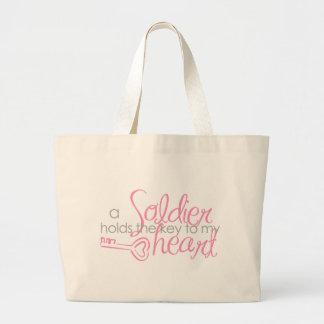 Key to my heart jumbo tote bag