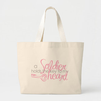 Key to my heart large tote bag