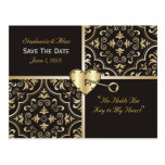 Key To My Heart Save The Date Postcards