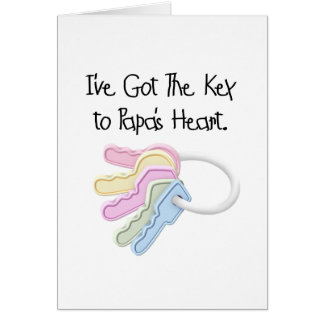 Key to Papa s Heart Tshirts and Gifts Cards