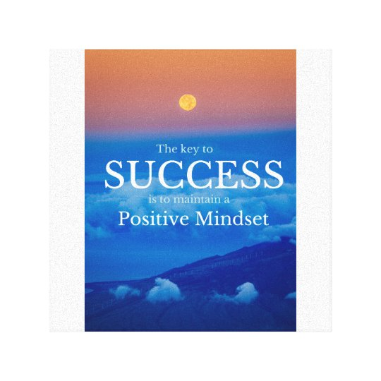 Key to Success Inspirational Quote Poster 12x12 Canvas