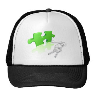 Key to the problem concept mesh hat