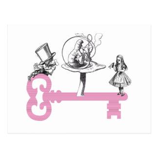 Key to Wonderland Postcard