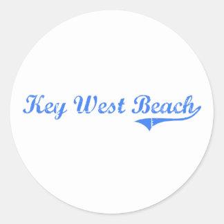 Key West Beach Florida Classic Design Round Stickers