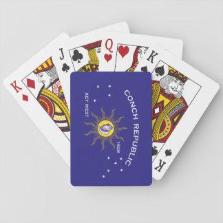 Key West Conch Republic Flag Playing Cards