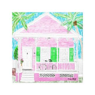 Key West Cottage canvas print