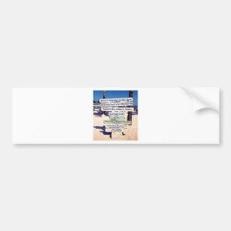 key west florida beach sign bumper sticker