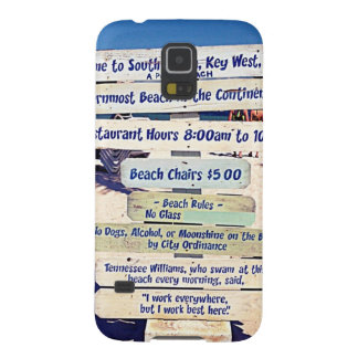 key west florida beach sign galaxy s5 cover