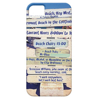 key west florida beach sign iPhone 5 cases