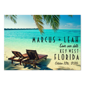Key West, Florida Destination Wedding Save Date 11 Cm X 16 Cm Invitation Card