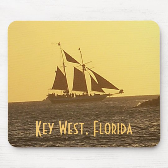 Key West Florida Keys Clipper Ship MousePad Photo
