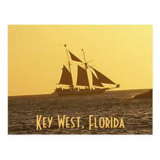 Key West Florida Keys Clipper Ship PostCard Photo